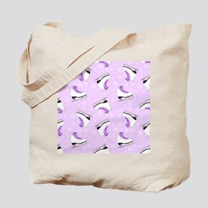 Purple Figure Skating Pattern Tote Bag